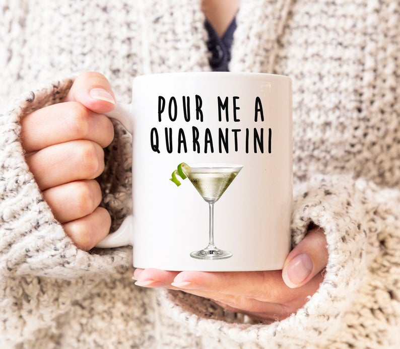 Love Gift Studios Quarantini Coffee Mug