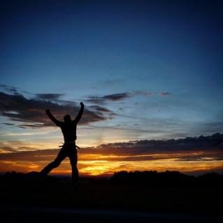 Sonnenuntergang auf der Heimfahrt: #ibelieveicanflyyy