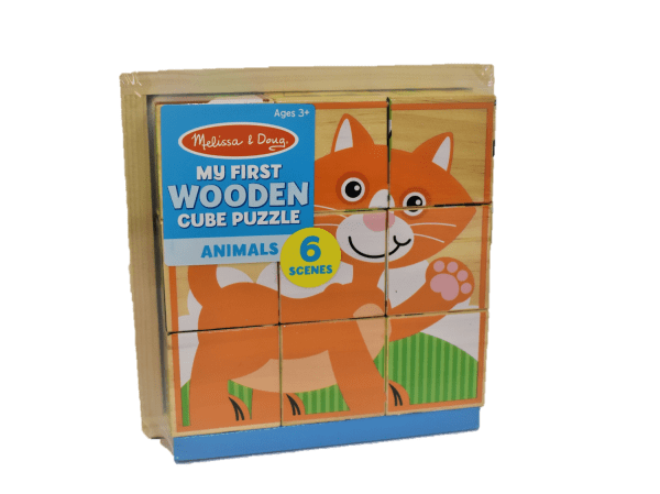 Wooden Cube Puzzle, Animals