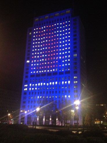 The Tetris test at the Shell Centre. It looked awesome!