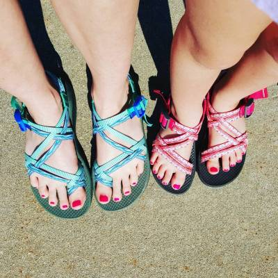 @chacofootwear has the cutest sandals for moments like today, the first day of swim practice of summer 2016. #chaconation #chacoswag