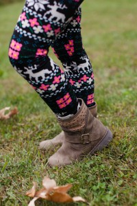 Short Khaki Boots with Sparkles - II