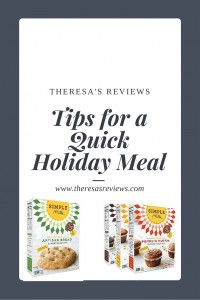 5 Tips for a Quick Holiday Meal - Featuring @simplemills - at Theresa's Reviews - www.theresasreviews.com #cooking #meals #food #holidays