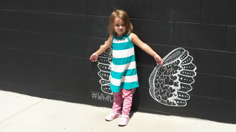 4 Kid-Friendly Places in Downtown Nashville - Wing Mural in the Gulch  - Theresa's Reviews