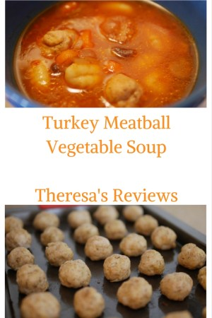 Theresa's Reviews - Turkey Meatball Vegetable Soup #recipes #turkeyrecipes #cooking #souprecipes #meatballrecipes #healthysoups #souprecipes