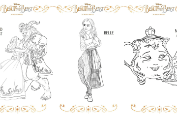 3 New Beauty and the Beast Printable Coloring Sheets