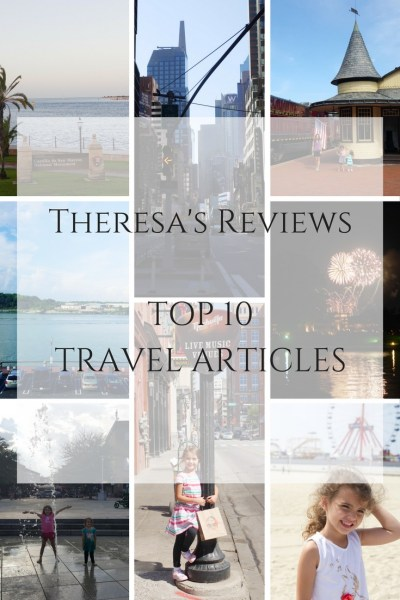 Theresa's Reviews - TOP 10 TRAVEL ARTICLES - Top 10 Places You'd Love To Visit In St. Augustine. 5 Things To Do In Ocean City, Maryland. Walt Disney World Park Hopper Passes: Are They Worth It?. 5 Tips To Make The Most Of The Magic Kingdom. Surviving A Road Trip To Walt Disney World. 4 Kid-Friendly Places in Downtown Nashville. Peaceful Weekend Getaway In Bucks County, Pennsylvania. 5 Tips For Visiting Sesame Place. Travel Tuesday: A Day In New York City.