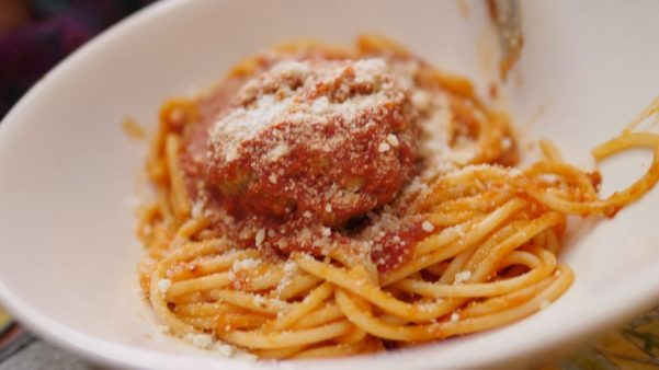 Side Of Spaghetti And Meatballs At Da Mimmo's Restaurant In Little Italy Baltimore - By Theresa's Reviews