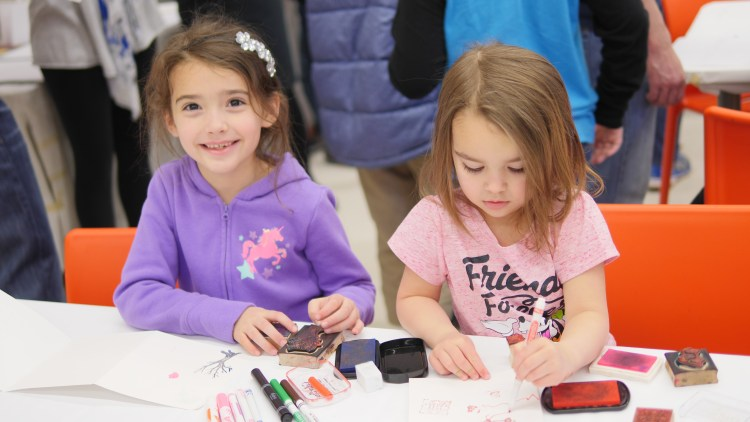 At the Free Family Sunday at the Baltimore Museum of Art, children enjoy making a new craft each week with the guidance of an art expert!