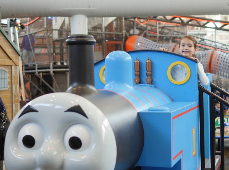 Visiting the Thomas & Friends section on the third floor is fun for fans of the show!