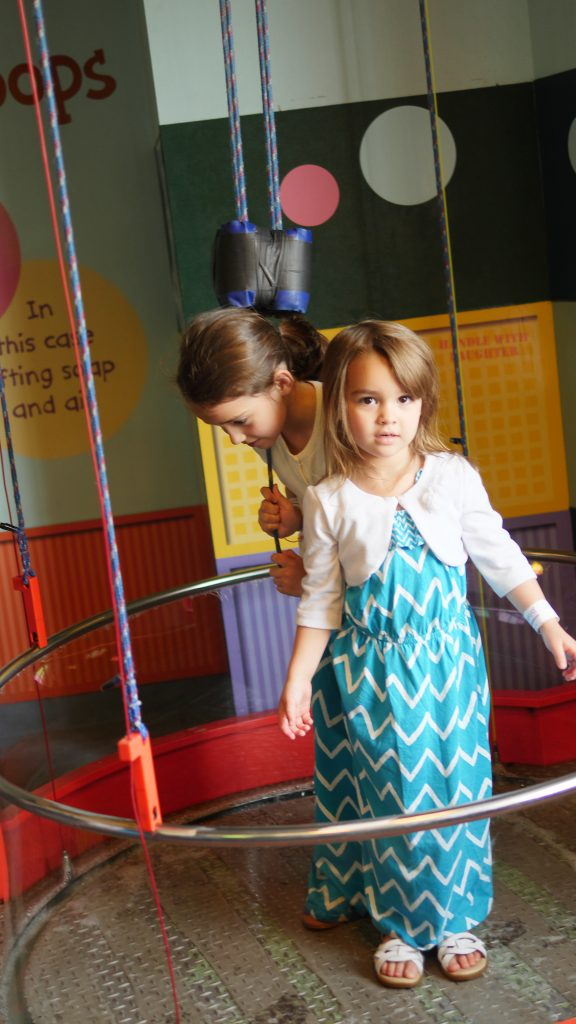 While older children can enjoy learning about how pulleys work, younger children will have fun playing with bubbles!