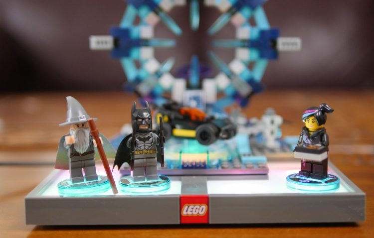 After jumping through the portal, your LEGO characters can show off their special powers.