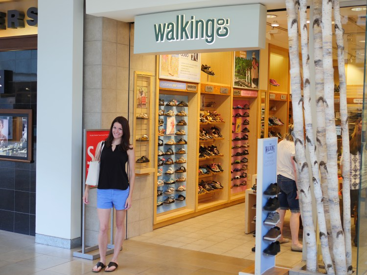 The Walking Company offers a variety of shoes that offer support, including ABEO sandals.