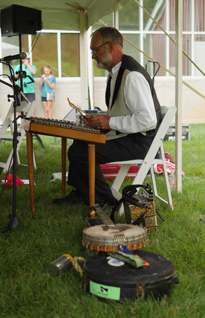 A musician plays at Ford Family Day in Gettysburg. - Theresa's Reviews