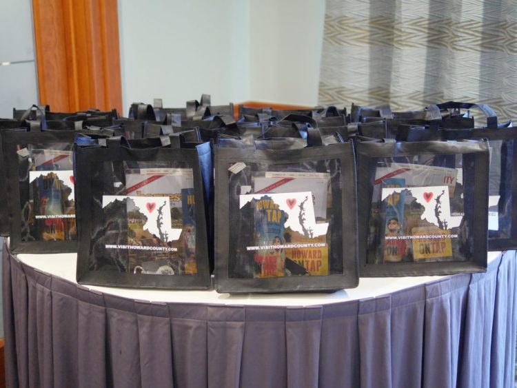 Howard County Tourism offered gift bags to all the bloggers who attended the #MarylandBlogs event. - Theresa's Reviews
