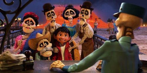 """FAMILY REUNION -- In Disney•Pixar's """"Coco,"""" Miguel (voice of newcomer Anthony Gonzalez) finds himself magically transported to the stunning and colorful Land of the Dead where he meets his late family members, who are determined to help him find his way home. Directed by Lee Unkrich (""""Toy Story 3""""), co-directed by Adrian Molina (story artist """"Monsters University"""") and produced by Darla K. Anderson (""""Toy Story 3""""), Disney•Pixar's """"Coco"""" opens in U.S. theaters on Nov. 22, 2017. ©2017 Disney•Pixar. All Rights Reserved."""