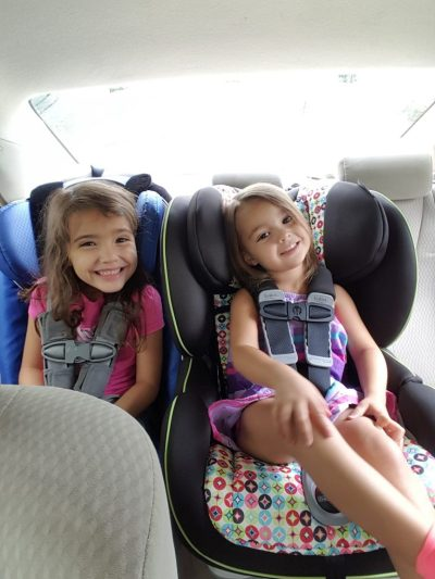 Make sure to use a car seat or booster seat until your child can safely use the adult seat belt strap.