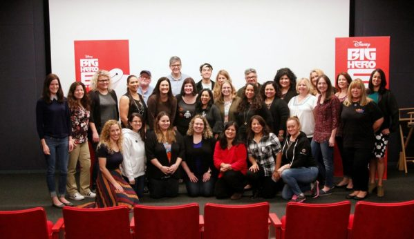 A group shot for the Big Hero 6: The TV show at the blogger press event. Photo credit: mamalatinatips.com