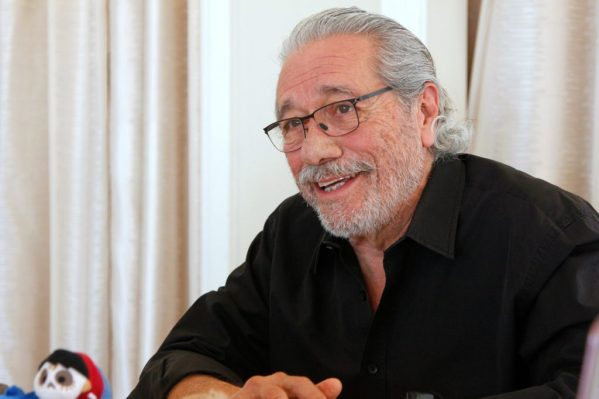 Theresa's Reviews exclusive Edward James Olmos interview for Disney Pixar Coco. Photo credit mamalatinatips.com