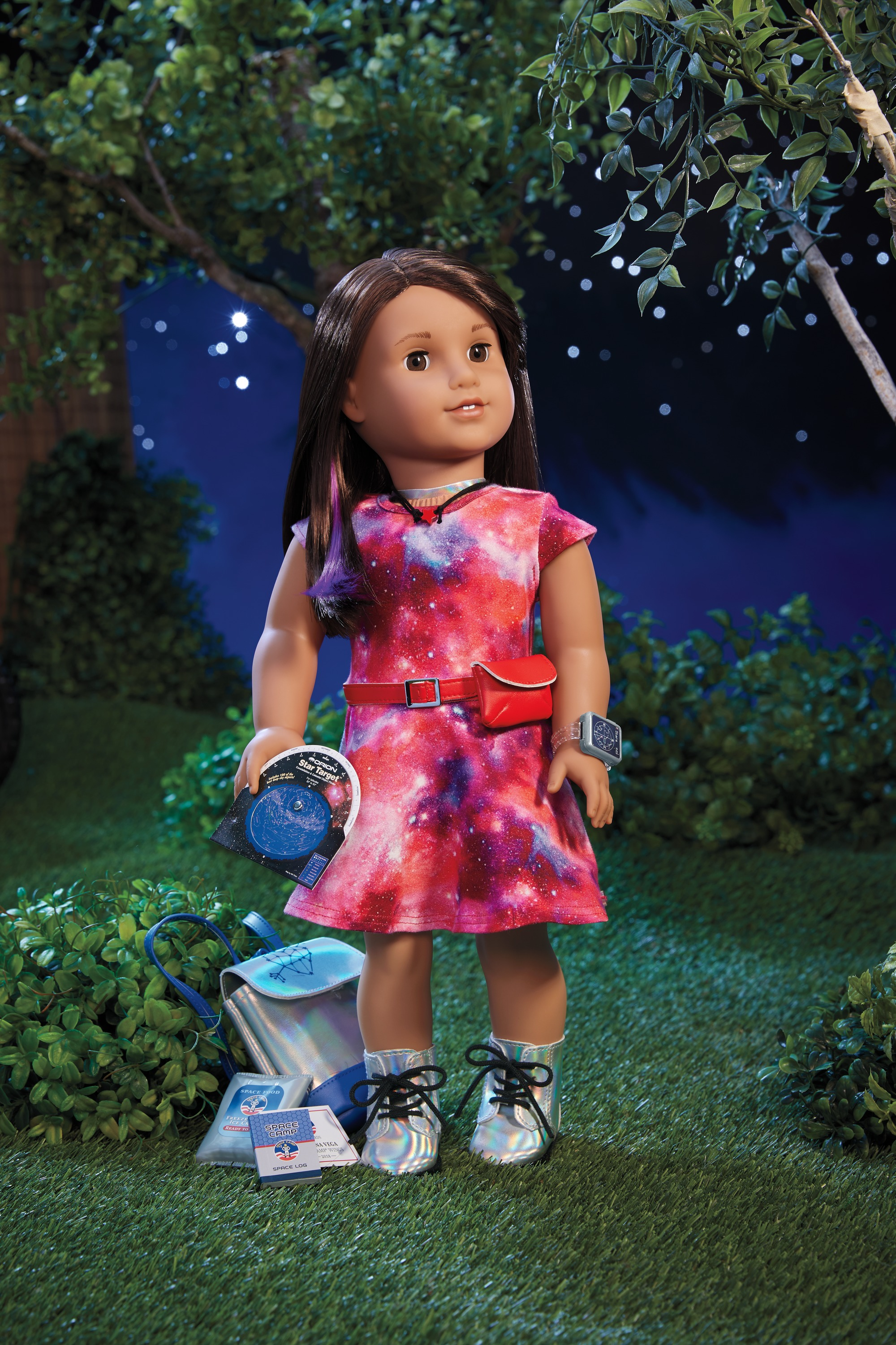 2018 American Girl Doll of the Year Luciana Accessories Science Space Log Book
