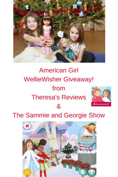 Theresa's Reviews & The Sammie and Georgie Show are giving away an American Girl Wellie Wisher doll to announce the Garden Fun app update! #AmericanGirl #WellieWisher #Giveaway