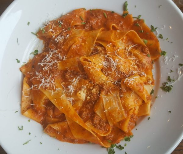 Pappardelle Bolognese at Facci Italian Restaurant