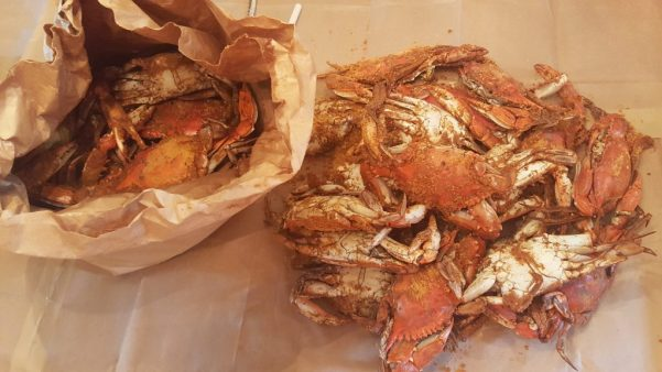 Bushel of Steamed Crabs from J & T Seafood