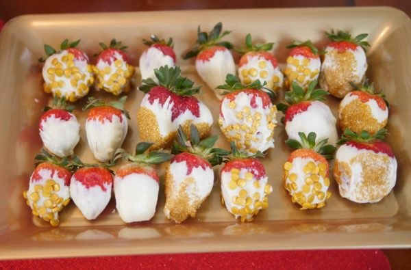 2018 Academy Awards Party - Gold Strawberries