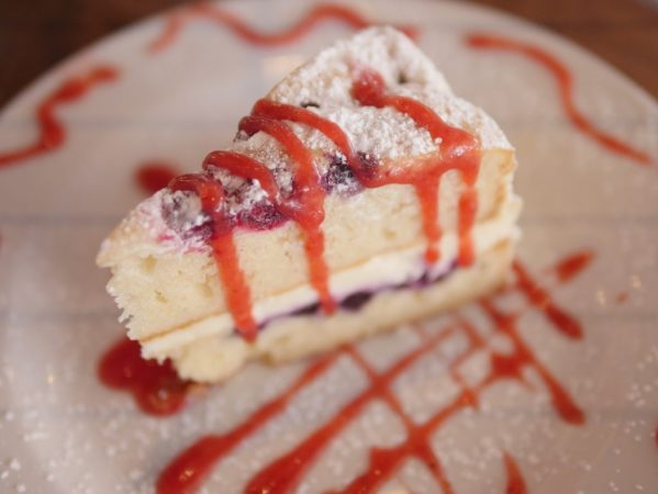 Lemon Berry Mascarpone Cake at Hudson Grille Raw Grille & Bar - Theresa's Reviews