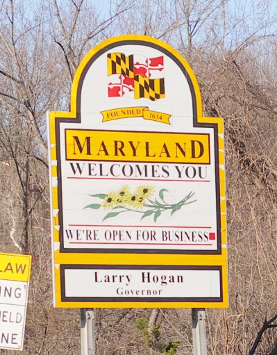 Our Spring Break Week In Review - Maryland Welcomes You Sign - Theresa's Reviews