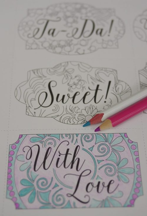 3 Paper Craft Gift Ideas (& Vera Bradley Giveaway!) - Coloring gift tags - Theresa's Reviews