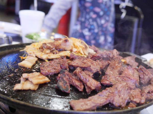 Honey Pig BBQ Restaurant Sliced Prime Rib on Korean Way - Theresa's Reviews