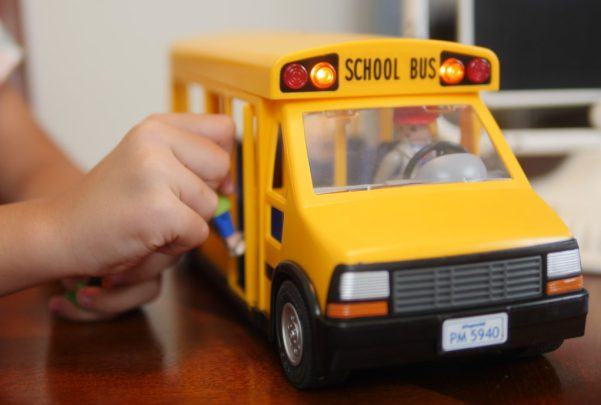 How To Get Ready For Kindergarten With The PLAYMOBIL School Bus - Theresa's Reviews