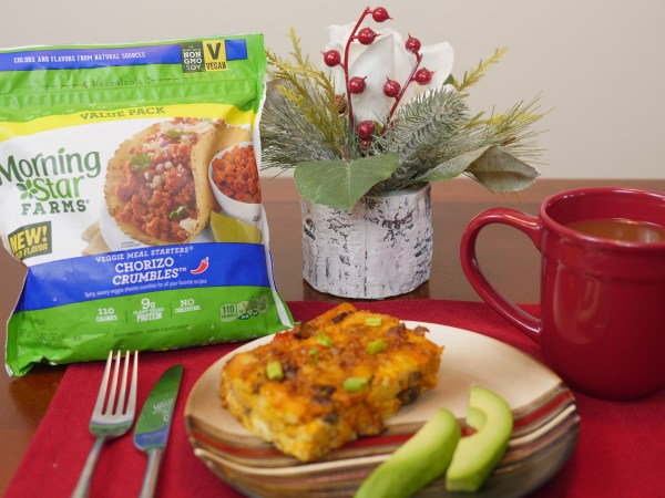 Vegetarian Christmas Morning Casserole with @morningstarfrms - Theresa's Reviews #VeryVeggieHoliday #MorningStarFarms #CollectiveBias