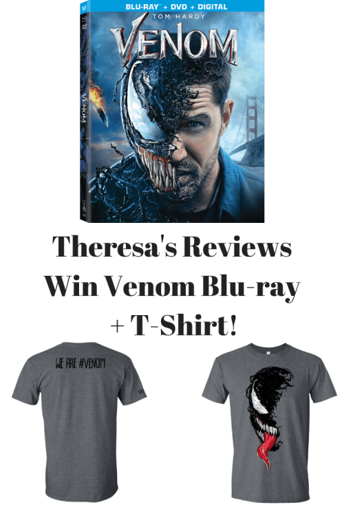 Theresa's Reviews - Marvel's Venom Releases on Blu-ray and 4K UHD! #Giveaway & Free Printables