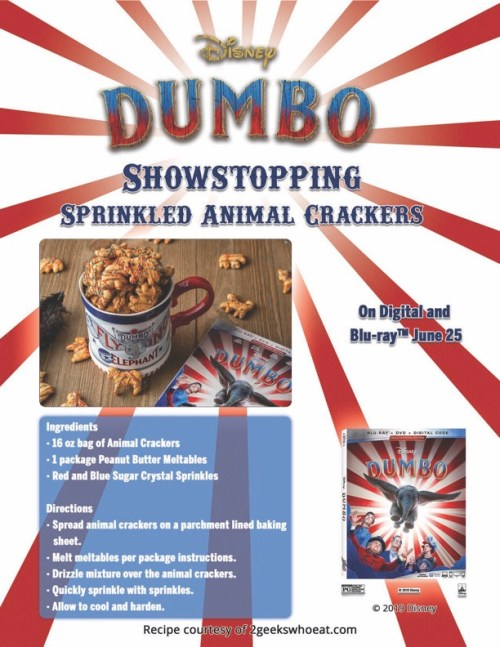 Dumbo Movie Night Snack Idea (& Digital Copy Giveaway!) - Theresa's Reviews
