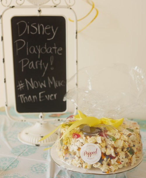 Our Casual Summertime Disney Playdate Party - Popped Passions Custom Mickey Mouse Popcorn Cake - Theresa's Reviews #NowMoreThanEver