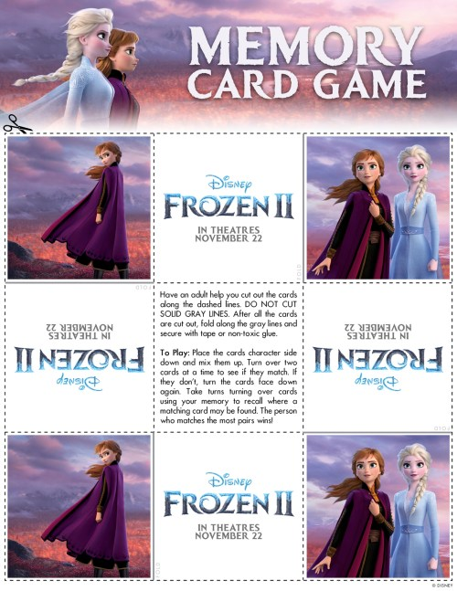 Frozen 2 Free Printable Activities