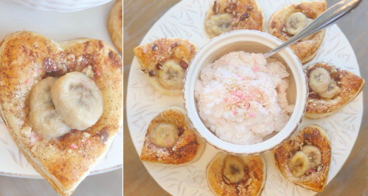 Flower-Inspired Puff Pastry with Homemade Whipped Cream Dip