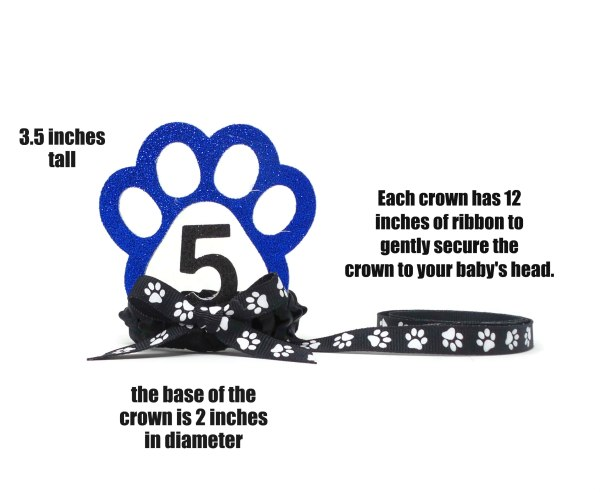 Blue Dog Birthday Crown