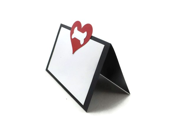 Heart and Bone Dog Party Place Cards, The Misfit Manor Shop