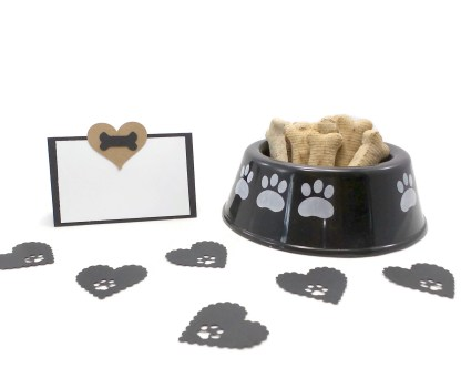Brown and Black Dog Party Place Cards, The Misfit Manor Shop