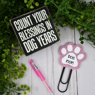 Pink Dog Mom Planner Clip - The Misfit Manor Shop