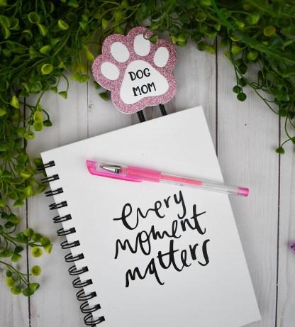 Pink Dog Mom Planner Clip - The Misfit Manor Shop