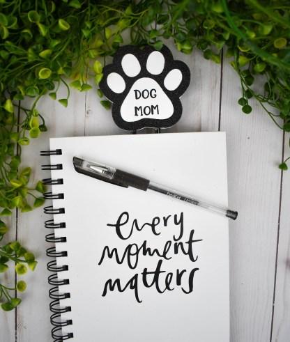 Dog Mom Planner Clip