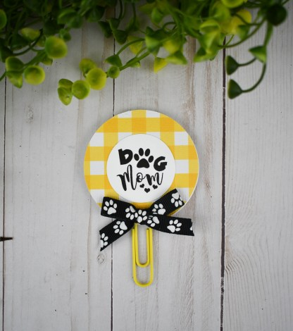 Yellow Paw Print Planner Clip, The Misfit Manor Shop