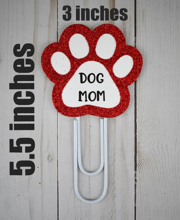 Dog Mom Bookmark, The Misfit Manor Shop