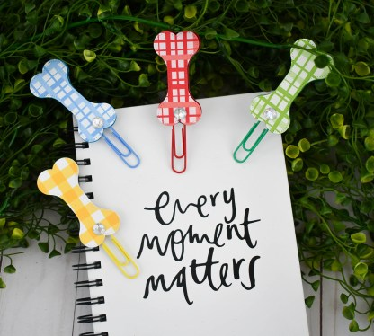 Patterned Dog Bone Planner Clip Set, The Misfit Manor Shop