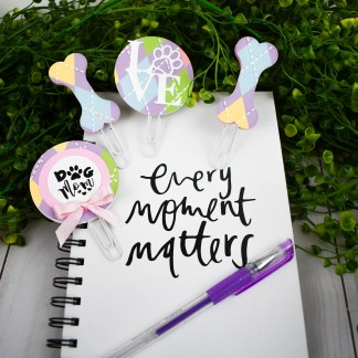 Purple Dog Mom Planner Clip Set - The Misfit Manor Shop
