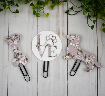Purple Dachshund Planner Clips - The Misfit Manor Shop